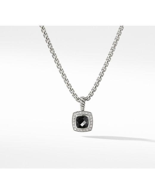 David Yurman - Petite Albion® Pendant Necklace With Black Onyx And Diamonds - Lyst