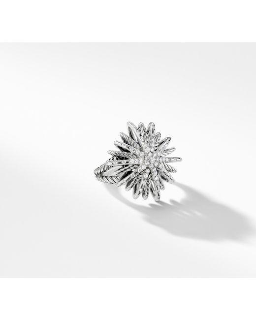 David Yurman - Metallic Starburst Ring With Diamonds - Lyst