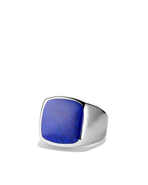 David Yurman | Metallic Exotic Stone Signet Ring With Lapis Lazuli for Men | Lyst