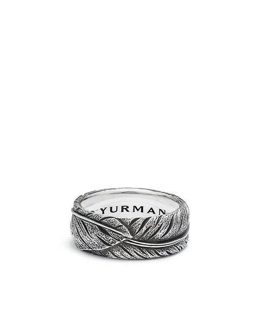 David Yurman - Metallic Southwest Narrow Feather Band Ring - Lyst