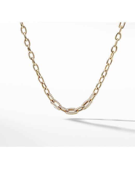David Yurman - Metallic Stax Convertible Chain Necklace With Diamonds In 18k Gold - Lyst
