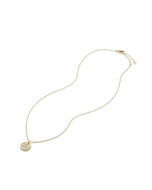David Yurman - Metallic Cable Collectibles Star Of David Necklace With Diamonds In 18k Gold - Lyst