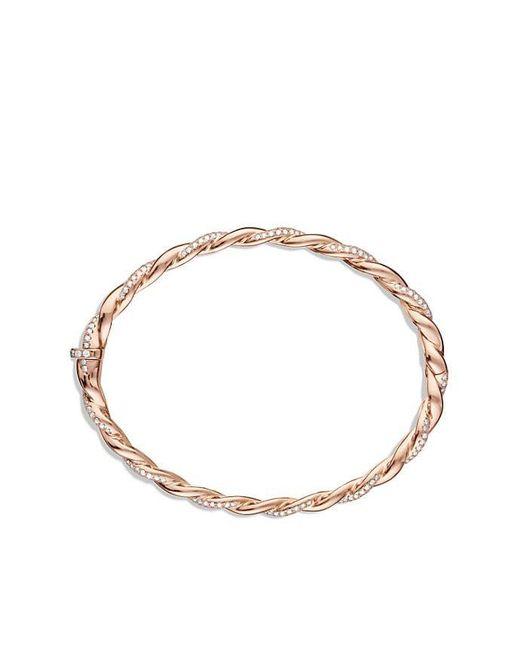 David Yurman | Pink Wisteria Bracelet With Diamonds In 18k Rose Gold, 5mm | Lyst
