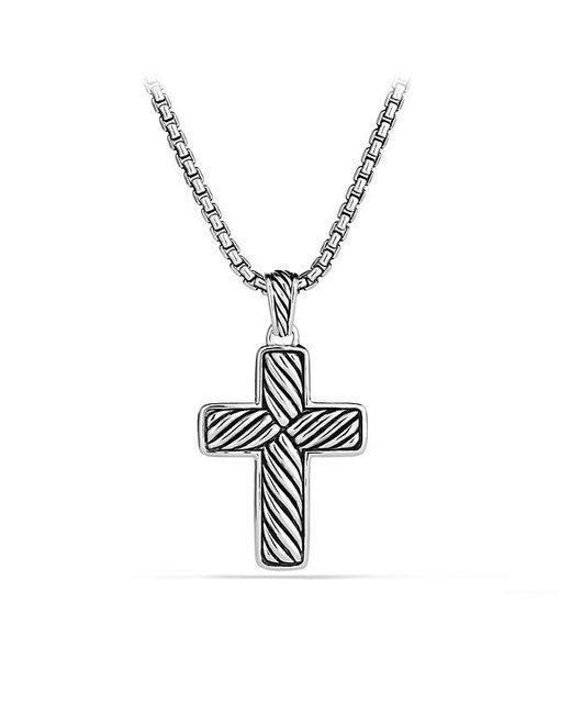 David Yurman | Chevron Cross With Black Diamonds for Men | Lyst