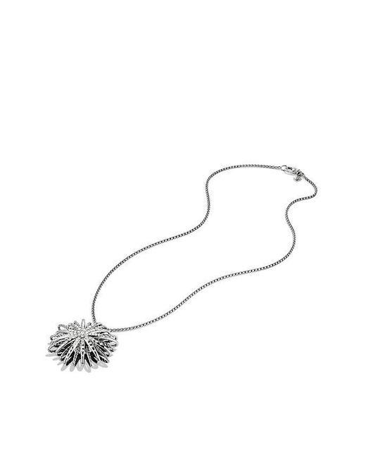 David Yurman | Metallic Starburst Large Pendant Necklace With Diamonds, 37mm | Lyst