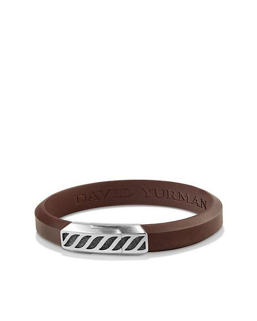 David Yurman | Graphic Cable Rubber Id Bracelet In Brown for Men | Lyst