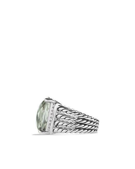 David Yurman | Metallic Wheaton Ring With Prasiolite And Diamonds | Lyst