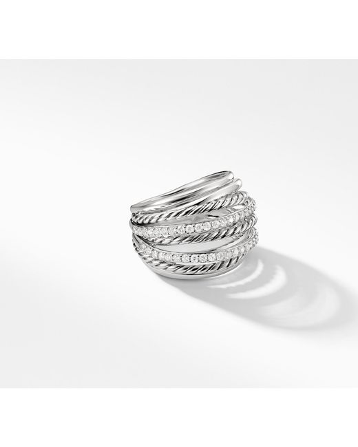 David Yurman - Multicolor X Crossover Dome Ring With Diamonds - Lyst