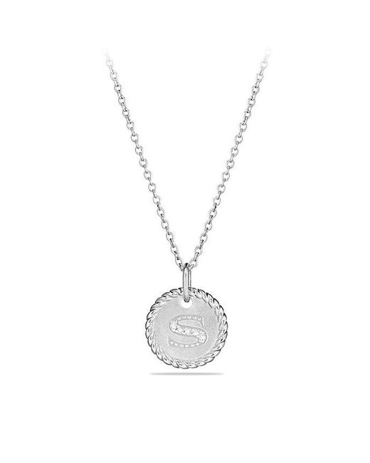 David Yurman - Multicolor Initial Charm Necklace With Diamonds In 18k White Gold - Lyst