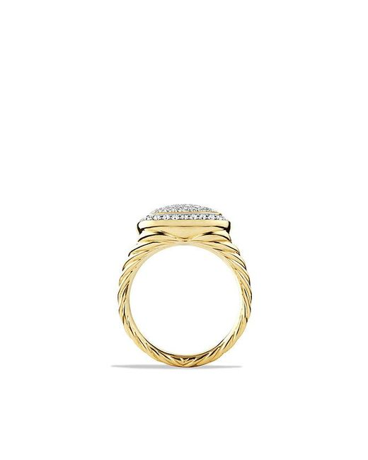 David Yurman - Metallic Albion® Ring With Diamonds In 18k Gold, 11mm - Lyst