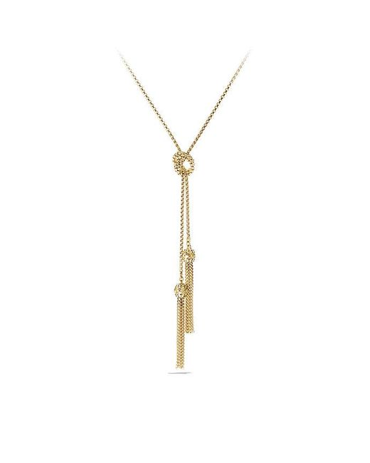 David Yurman - Metallic Renaissance Tassel Necklace In 18k Gold - Lyst