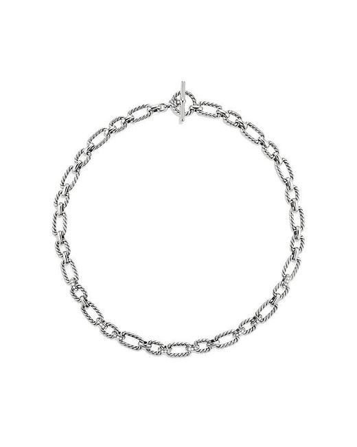 David Yurman - Metallic Cushion Link Necklace With Diamonds, 12.5mm - Lyst