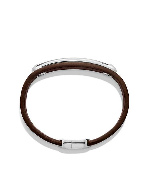 David Yurman | Multicolor Graphic Cable Leather Id Bracelet In Brown With Tigers Eye for Men | Lyst