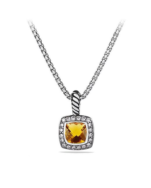 David Yurman - Metallic Petite Albion® Pendant Necklace With Citrine And Diamonds - Lyst