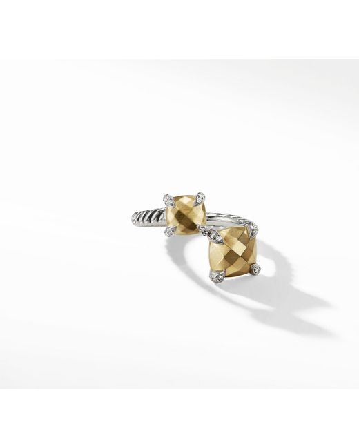 David Yurman - Metallic Chatelaine® Bypass Ring With 18k Gold And Diamonds - Lyst