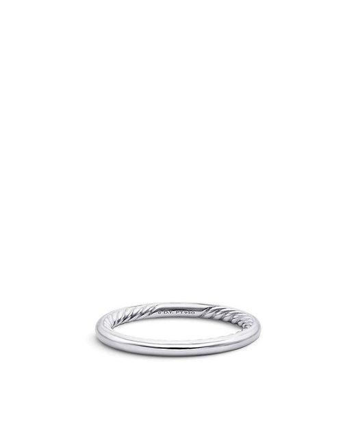 David Yurman - Metallic Dy Eden Wedding Band In Platinum, 2mm - Lyst