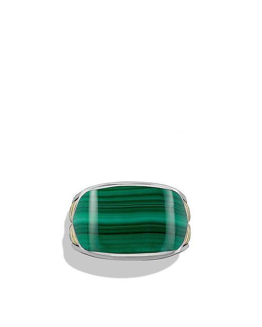 David Yurman | Brown Chevron Signet Ring With Malachite And 18k Gold for Men | Lyst