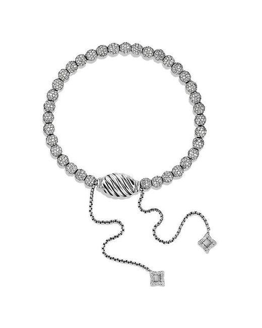 David Yurman | Gray Petite Pave Bracelet With Diamonds | Lyst