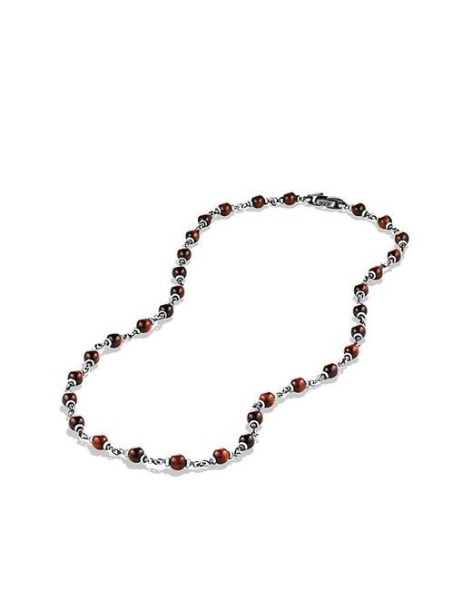 David Yurman - Spiritual Rosary Bead Necklace In Red Tiger Eye for Men - Lyst