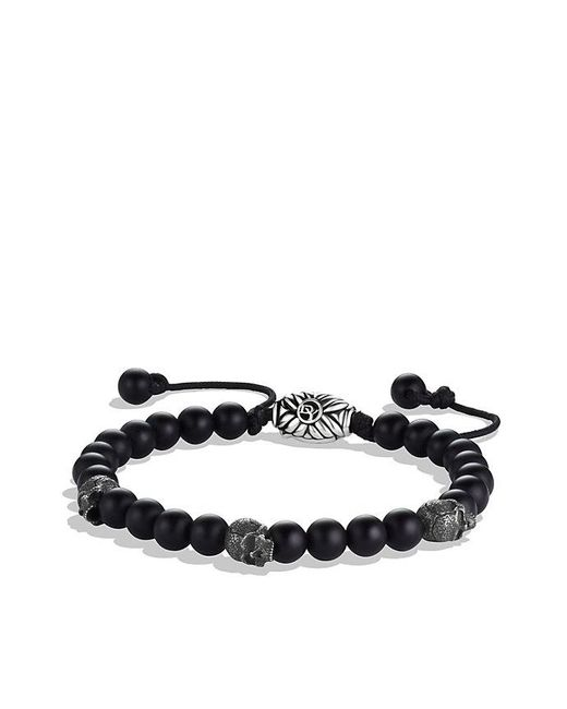 David Yurman - Spiritual Beads Skull Bracelet With Black Onyx, 6mm for Men - Lyst