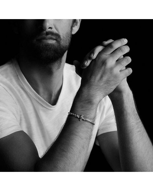 David Yurman - Metallic Waves Dagger Bracelet With 18k Gold for Men - Lyst