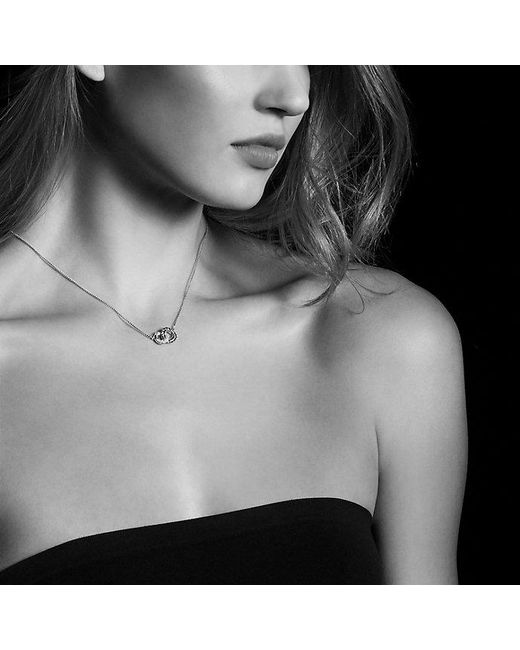 David Yurman - Belmont Extra-small Double Curb Link Necklace With Diamonds In 18k White Gold - Lyst