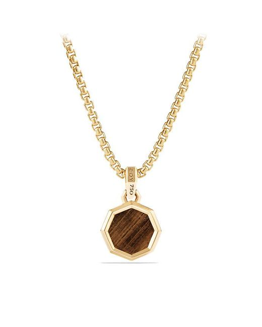 David Yurman | Metallic Dy Fortune Faceted Amulet With Golden Sheen Sapphire In 18k Gold | Lyst