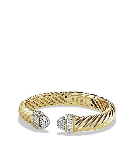 David Yurman | Yellow Waverly Bracelet With Diamonds In 18k Gold, 5mm | Lyst