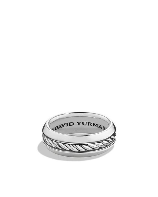 David Yurman - Black Cable Classic Band Ring for Men - Lyst