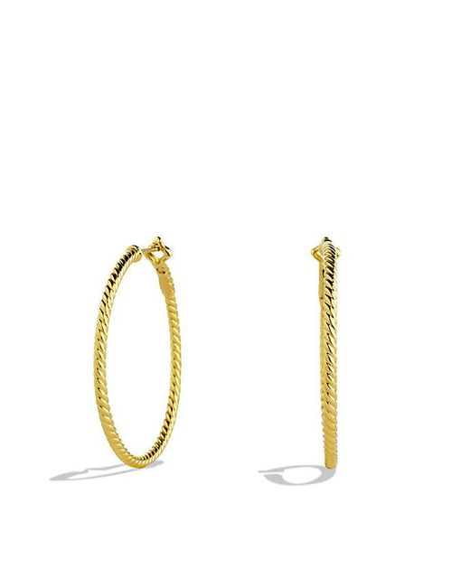 David Yurman | Metallic Cable Classics Hoop Earrings In Gold | Lyst