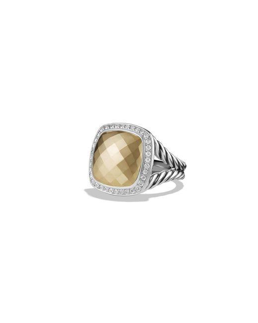 David Yurman - Metallic Albion Ring With 18k Gold Dome And Diamonds - Lyst
