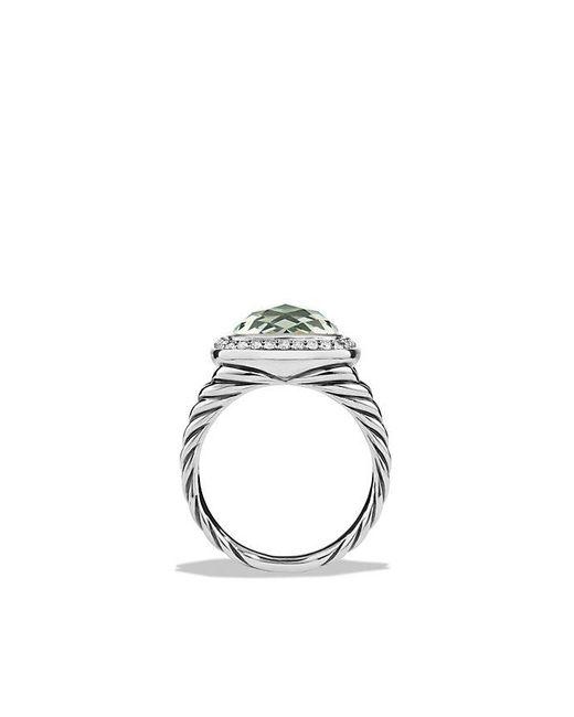 David Yurman | Metallic Albion Ring With Prasiolite And Diamonds, 11mm | Lyst