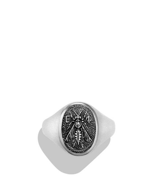 David Yurman - Black Petrvs Bee Signet Pinky Ring for Men - Lyst