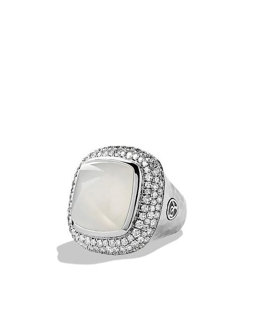 David Yurman - Blue Albion® Ring With Moon Quartz And Diamonds - Lyst