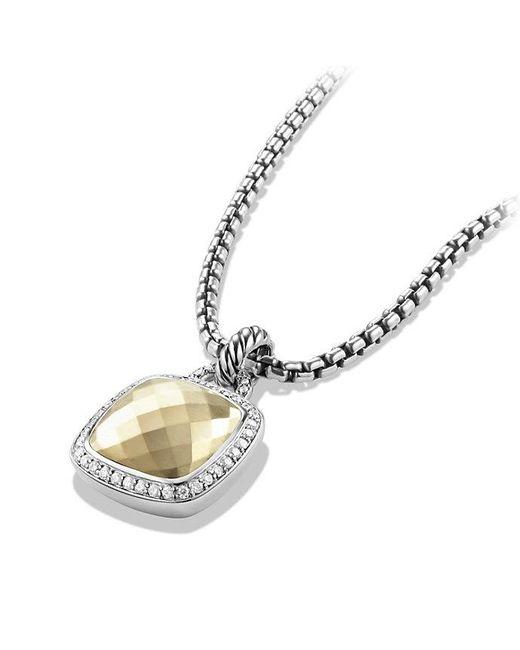 David Yurman | Metallic Albion® Pendant With Diamonds And 18k Gold Dome, 14mm | Lyst