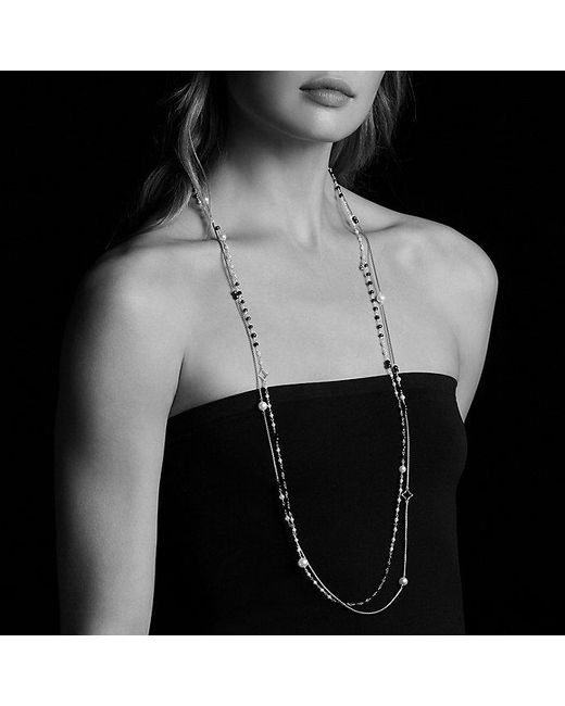 David Yurman | Metallic Oceanica Two-row Chain Necklace With Pearls In 18k Gold | Lyst