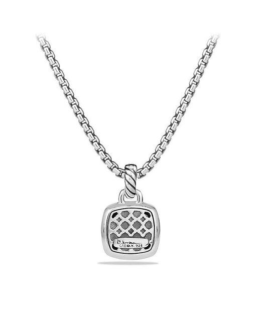 David Yurman - Albion® Pendant With Blue Topaz And Diamonds, 11mm - Lyst