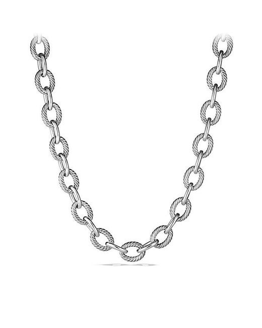 David Yurman | Metallic Extra-large Oval Link Necklace | Lyst