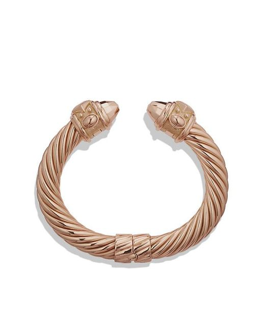 David Yurman | Pink Renaissance Bracelet In 18k Rose Gold, 10mm | Lyst