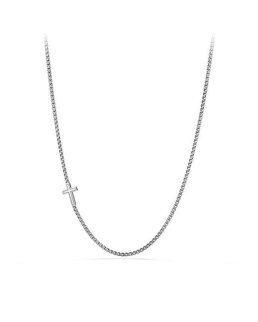 David Yurman - Pavé Cross Necklace With Black Diamonds for Men - Lyst