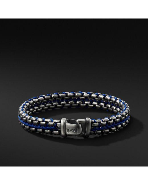 David Yurman - Woven Box Chain Bracelet In Blue for Men - Lyst