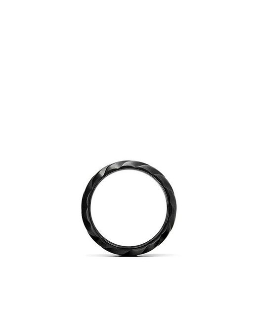 David Yurman | Modern Cable Wide Band Ring In Black Titanium, 9mm for Men | Lyst