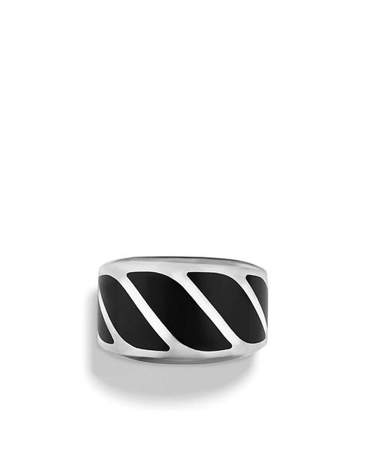David Yurman - Graphic Cable Band Ring With Black Onyx for Men - Lyst