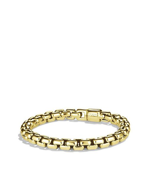 David Yurman - Metallic Box Chain Bracelet In 18k Gold, 7.5mm for Men - Lyst