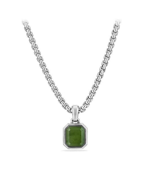 David Yurman - Metallic Emerald Cut Amulet With Jade - Lyst