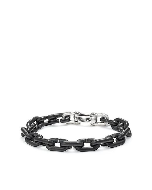 David Yurman - Chain Link Bold Bracelet With Black Titanium - Lyst