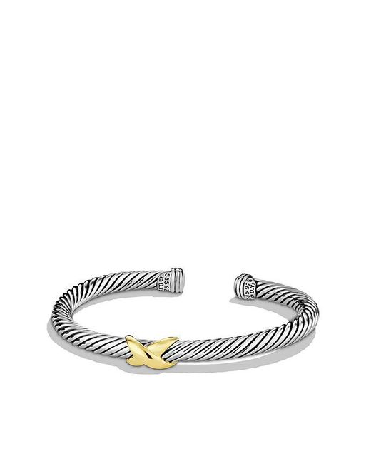 David Yurman | Metallic X Bracelet With 14k Gold | Lyst