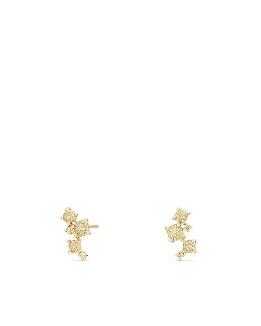 David Yurman - Precious Chatelaine® Climber Earrings With Yellow Diamonds In 18k Gold - Lyst