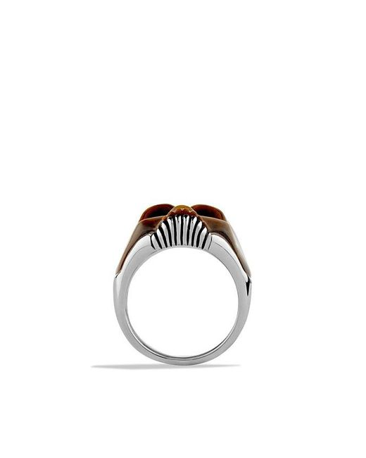 David Yurman - Metallic Carved Skull Ring With Tiger's Eye for Men - Lyst
