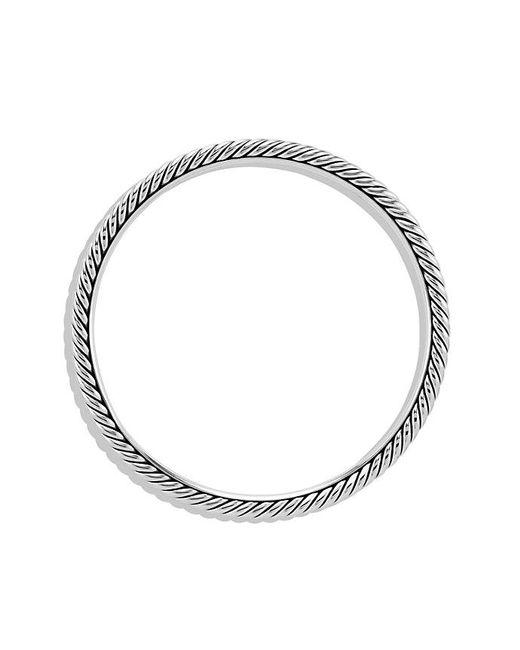David Yurman - Gray Cable Classics Bangle, 4mm - Lyst
